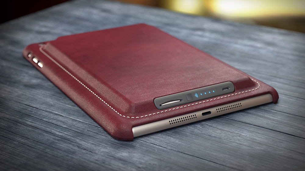 Smart Case for iPad, in red leather